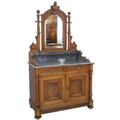 Gründerzeit Dresser Mirror Dresser Wilhelminian Period circa 1880 Walnut