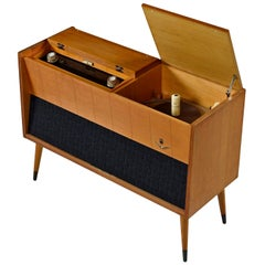 Grundig Majestic M11 Turntable Console Stereo Cabinet Credenza with Turntable