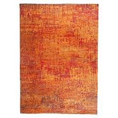 Grunge Orange Rug