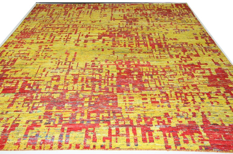 Indian Grunge Red Rug, Multiple Sizes  For Sale