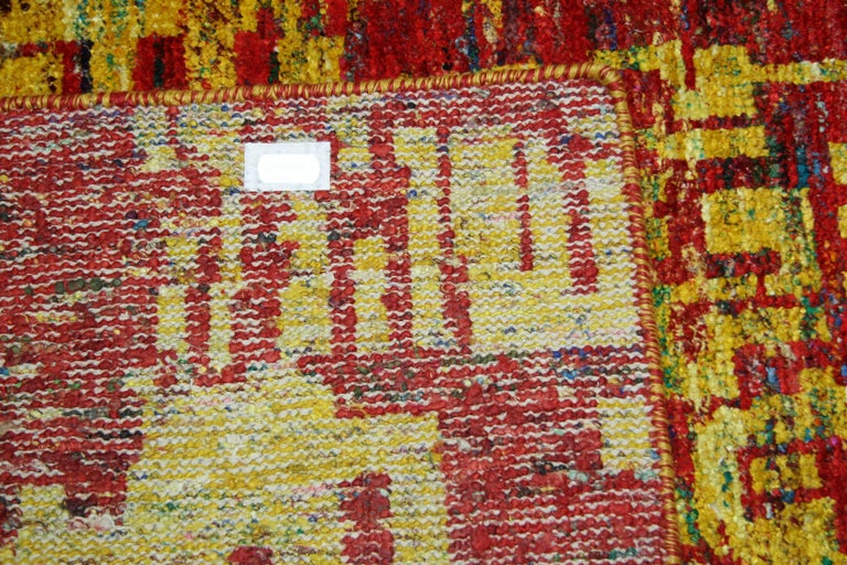 Grunge Red Rug, Multiple Sizes  In New Condition For Sale In Los Angeles, CA