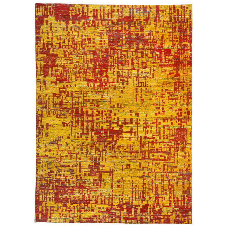 Grunge Red Rug, Multiple Sizes  For Sale