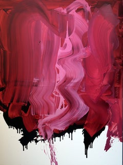 Pink  - Series Blobs - Colourful Expression, XXXL Format Oil Painting