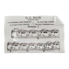 """""""G.S. Bach Preludio i"""" Porcelain Dish by Piero Fornasetti, circa 1960s"""