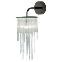 GS Wall Light by Tom Kirk in Polished Black Nickel