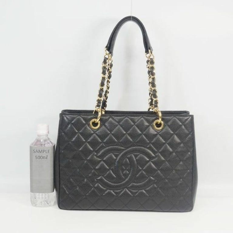 GST tote bag  Womens  shoulder bag A50995  black x gold hardware Leather For Sale 9