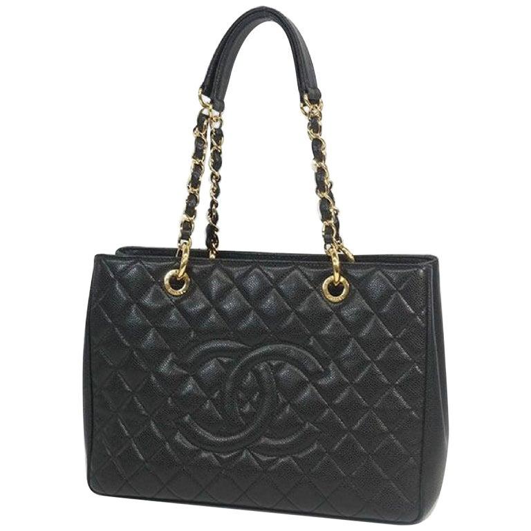 GST tote bag  Womens  shoulder bag A50995  black x gold hardware Leather For Sale