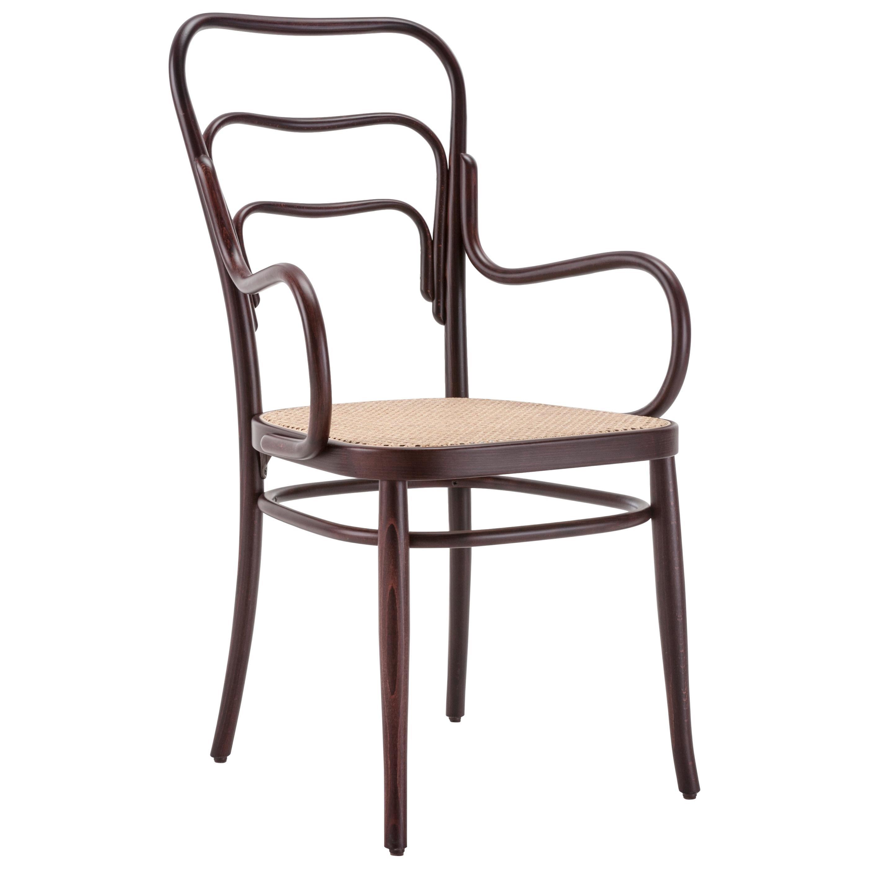 Gebrüder Thonet Vienna GmbH 144 Armchair in Walnut with Cane Seat