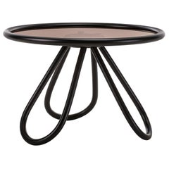 Gebrüder Thonet Vienna GmbH Arch Coffee Table in Black Lacquered Wood with Glass