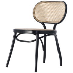 GTV Thonet Bodystuhl Chair in Black with Woven Cane Seat by Nigel Coates