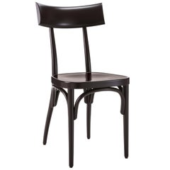 GTV Thonet Czech Chair in Black with Plywood Seat by Hermann Czech