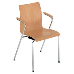 GTV Thonet Hot Chair in Beech with Armrest by Gebrüder Thonet Vienna Gmbh (GTV)