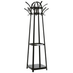 GTV Thonet Kolo Moser Wooden Coat Rack in Black by Koloman Moser
