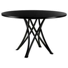 Gebrüder Thonet Vienna GmbH Large Rehbeintisch Coffee Table in Black Lacquer