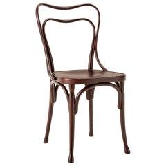 Gebrüder Thonet Vienna GmbH Loos Cafe Museum Chair in Dark Walnut