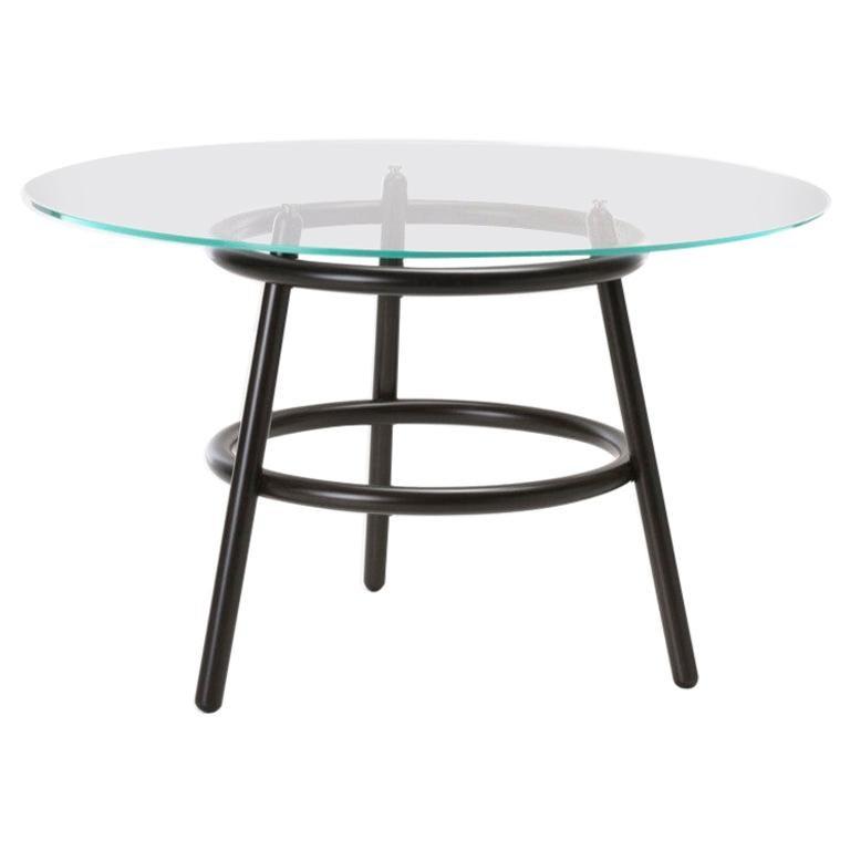 Gebrüder Thonet Vienna GmbH Magistretti 03 02 Circular Table with Glass Top