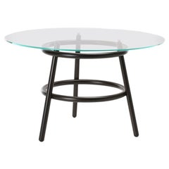 GTV Thonet Magistretti 03 02 Circular Table with Glass Top by Vico Magistretti