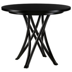 Gebrüder Thonet Vienna GmbH Medium Rehbeintisch Coffee Table in Black Lacquer