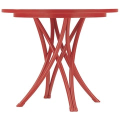 Gebrüder Thonet Vienna GmbH Medium Rehbeintisch Coffee Table in Flame Red