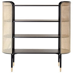 GTV Thonet MOS Bookcase in Wood with Brass Feet by Gamfratesi