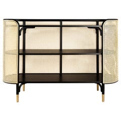 GTV Thonet MOS Console in Wood with Brass Feet by Gamfratesi