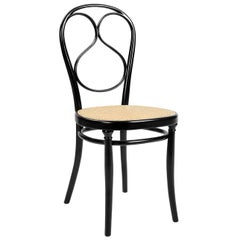 GTV Thonet N.1 Chair in Black with Cane Seat by Michael Thonet