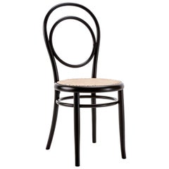 GTV Thonet N.14 Chair in Black with Cane Seat by Michael Thonet
