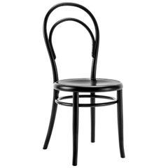 Gebrüder Thonet Vienna GmbH N.14 Chair in Black with Plywood Seat