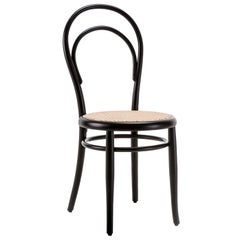 GTV Thonet N.14 Chair in Black with Woven Cane Seat by Michael Thonet
