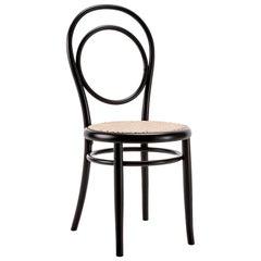 Gebrüder Thonet Vienna GmbH N.14 Perforated Chair in Black with Plywood Seat