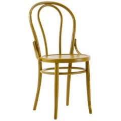 Gebrüder Thonet Vienna GmbH N.18 Chair in Curry Yellow with Plywood Seat
