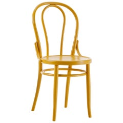 GTV Thonet N.18 Chair in Yellow Ocre with Plywood Seat by Gebruder Thonet
