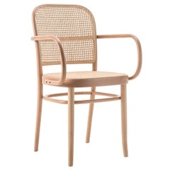 GTV Thonet N.811 Armchair in Beechwood with Cane Seat by Josef Hoffmann