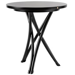 Gebrüder Thonet Vienna GmbH Small Rehbeintisch Coffee Table in Black Lacquer