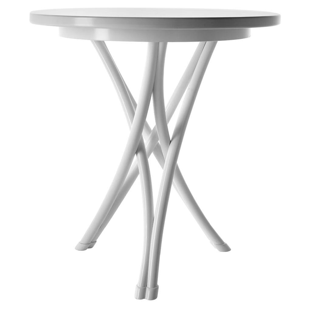 Gebrüder Thonet Vienna GmbH Small Rehbeintisch Coffee Table in White Lacquer