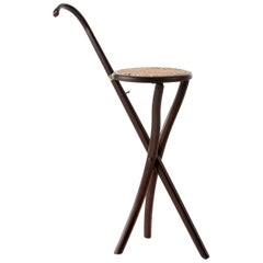 GTV Thonet Stocksessel Folding Chair in Walnut by Gebrüder Thonet