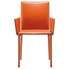 GTV Thonet Twiggy Armchair in Steel with Orange & Backrest by Gebrüder Thonet