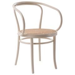 Gebrüder Thonet Vienna GmbH Wiener Stuhl Chair in White with Wooven Cane Seat