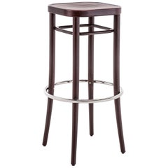 GTV Thonet Wiener Vienna 144 Barhocker Barstool in Walnut by Gebrüder Thonet
