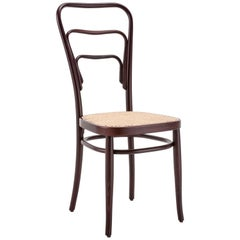 GTV Thonet Wiener Vienna 144 Chair in Walnut with Cane Seat by Gebrüder Thonet