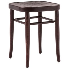 GTV Thonet Wiener Vienna 144 Hocker Low Stool in Walnut by Gebrüder Thonet