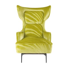 Guam Armchair in Fabric with Metal Base by Roberto Cavalli Home Interiors