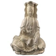 "Guanyin in Porcelain ""Blanc de Chine"", circa 1900"