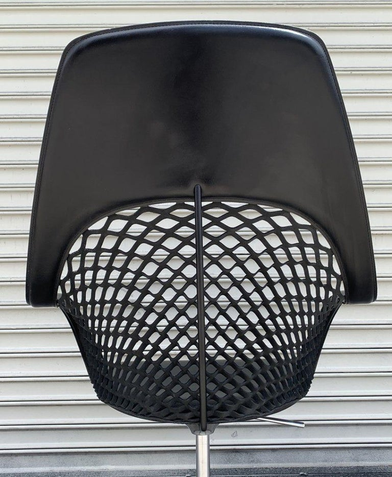 Leather Guapa Chair by Sempere Poli for Midj Spa Made in Italy For Sale