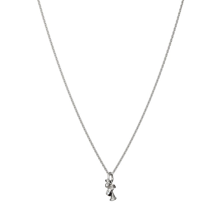 Contemporary Guardian Angel Pendant Traceable Diamond In 18 Karat Gold By Rocks for Life For Sale