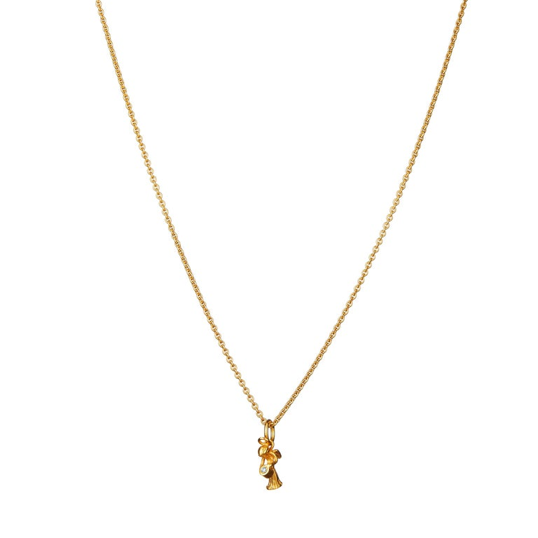 Guardian Angel Pendant Traceable Diamond In 18 Karat Gold By Rocks for Life In New Condition For Sale In Haddonfield, NJ