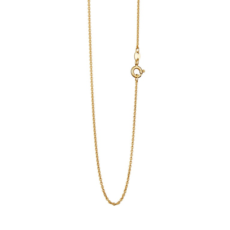 Contemporary Guardian Angel Pendant With Chain And Traceable Diamond 18 Karat Yellow Gold For Sale