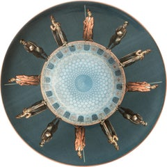 Guards Porcelain Dinner Plate by Vito Nesta for Les-Ottomans