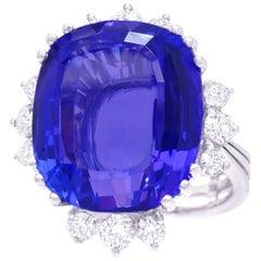 Gubelin 15 Carat Tanzanite Ring