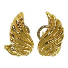 Gubelin 18 Karat Wing-Shaped Earrings